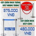 Khuyến mại cột chắn inox giá rẻ