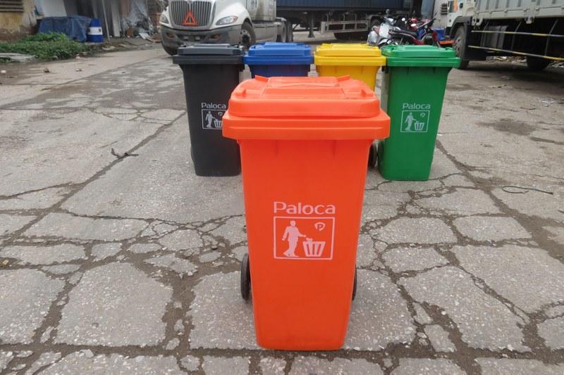Thùng rác nhựa 120 lít thương hiệu Paloca