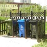 thùng rác nhựa cho công viên