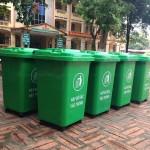 Thùng rác nhựa hdpe 60 lít, thùng rác hdpe 60l