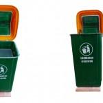 Thùng rác nhựa cố định
