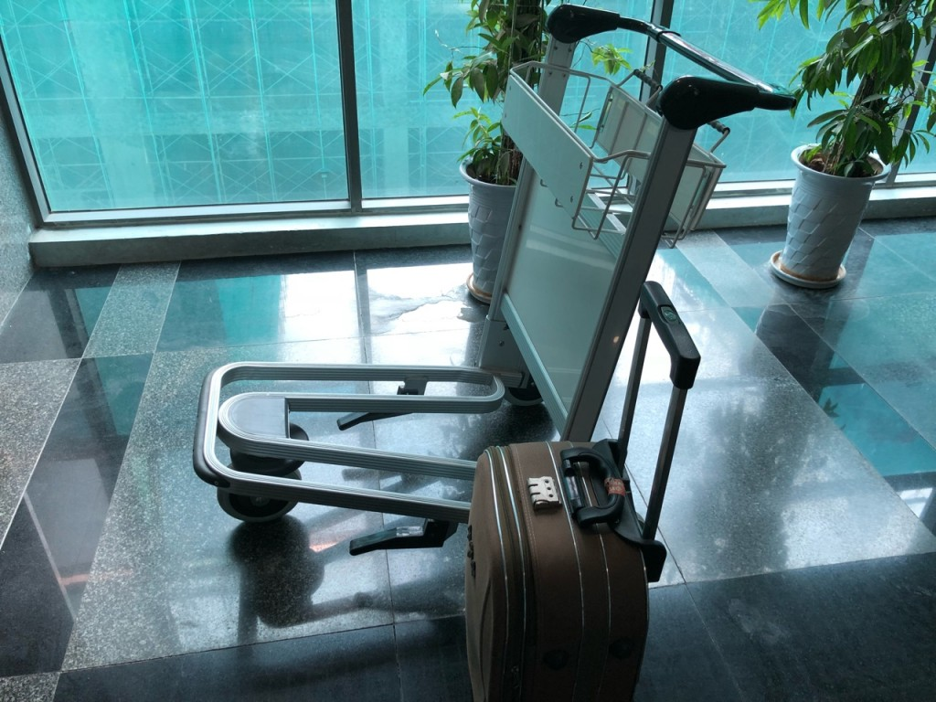 Xe đẩy hành lý dùng ở sân bay