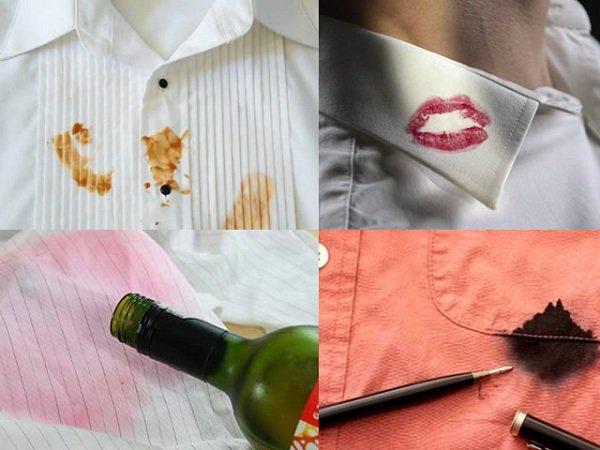 Tẩy các vết bẩn trên quần áo