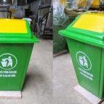 thùng rác phù hợp trường học