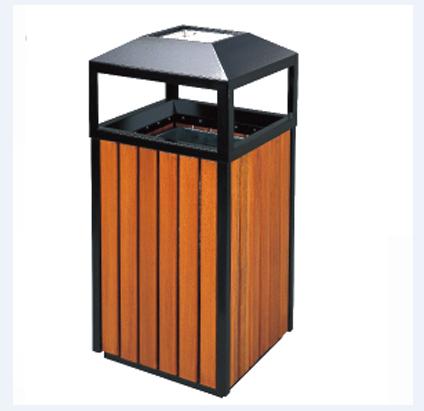 thùng rác gỗ