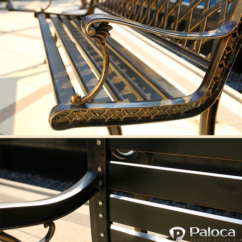 Ghế công viên gang đúc paloca