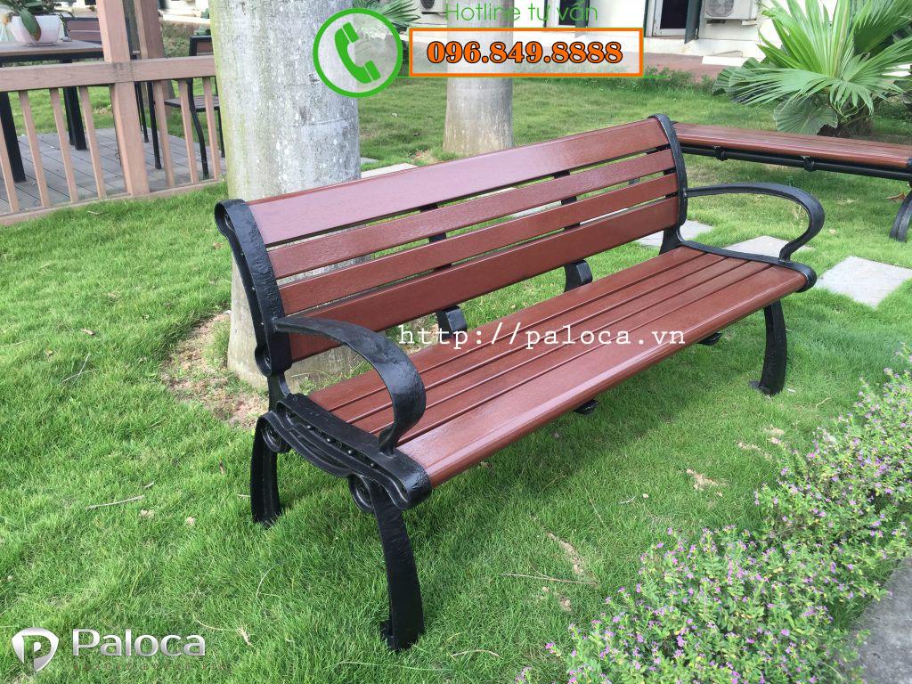 ghế gỗ công viên ngoài trời