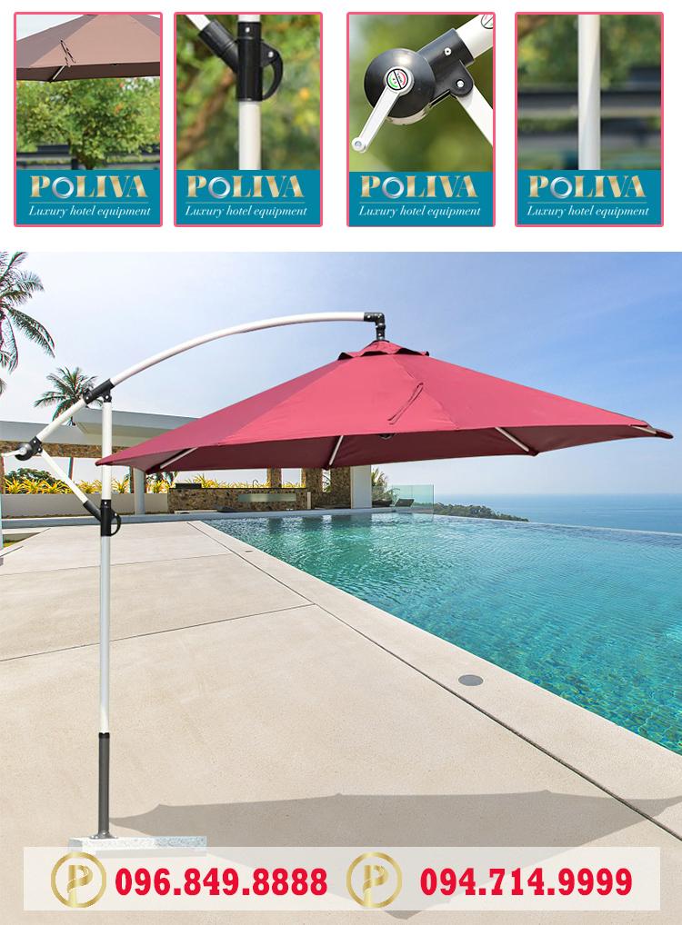 Quảng cáo thương hiệu bằng ô lệch tâm tròn Poliva