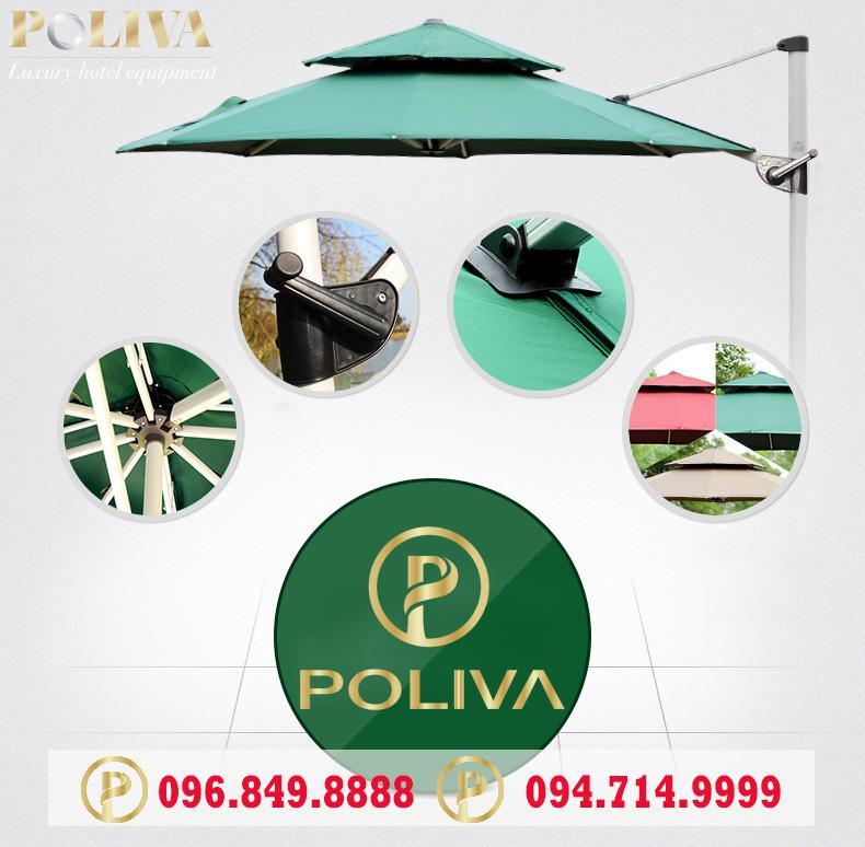 Nên chọn chất liệu nào cho ô dù quán cafe poliva