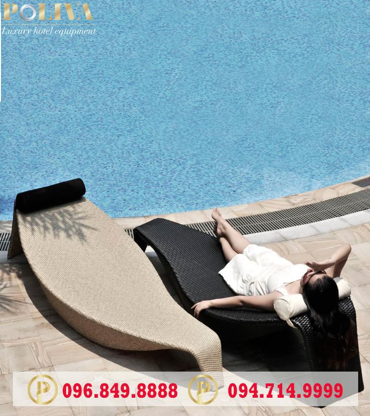 Mẫu ghế hồ bơi giả mây phổ biến nhất