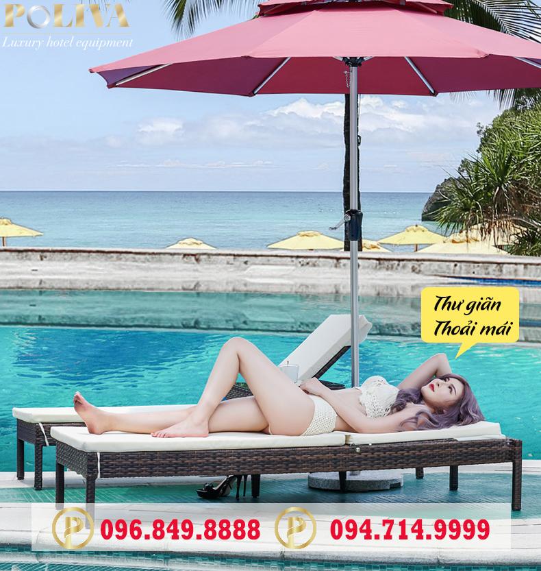 Vai trò của ghế hồ bơi ngoài trời thương hiệu Poliva