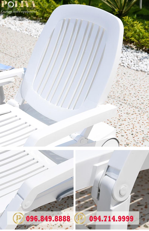 Ưu nhược điểm của ghế hồ bơi thương hiệu Poliva