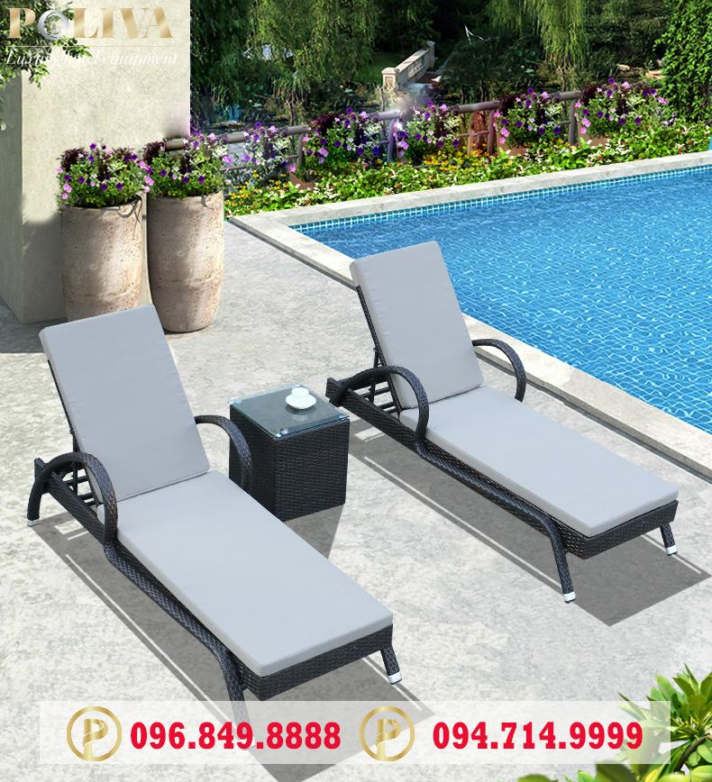 Kích thước ghế hồ bơi (Giường bể bơi) các loại