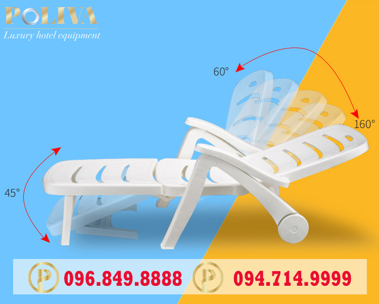 Ứng dụng của ghế hồ bơi thương hiệu Poliva