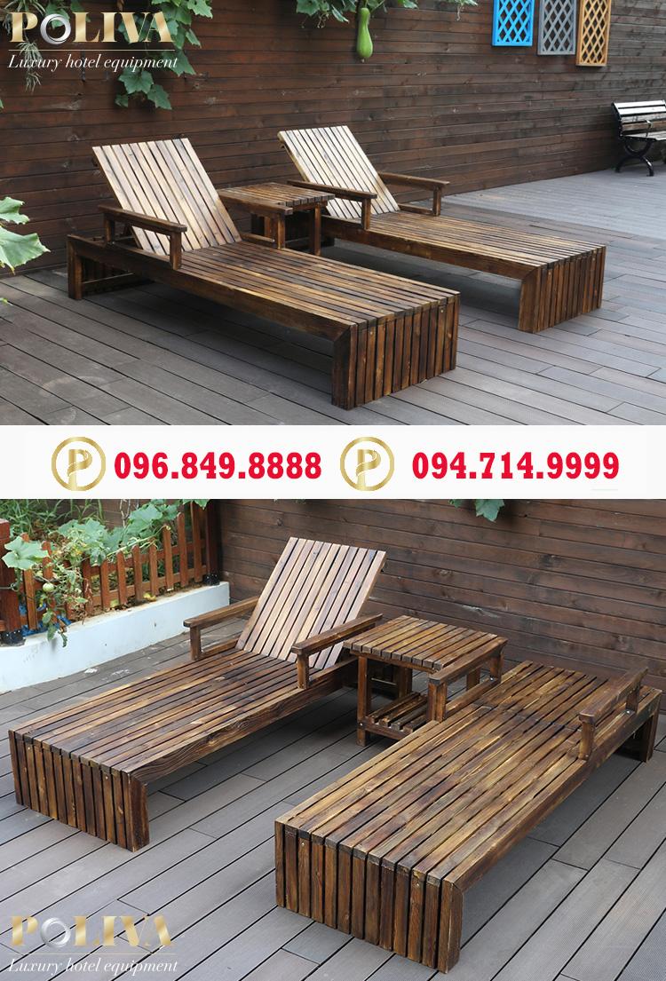 Công ty bán ghế hồ bơi bằng gỗ giá siêu rẻ