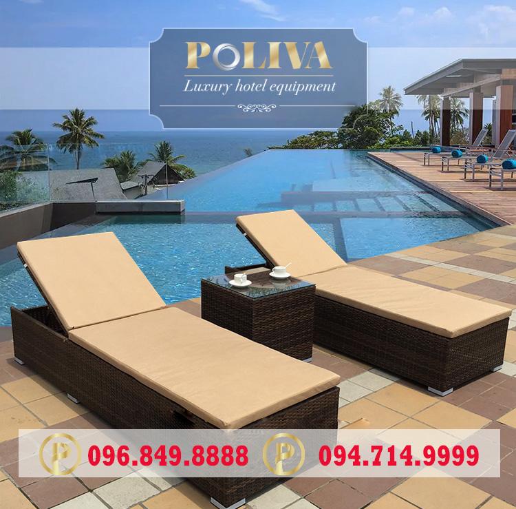 Ưu điểm ghế hồ bơi giả mây thương hiệu Poliva