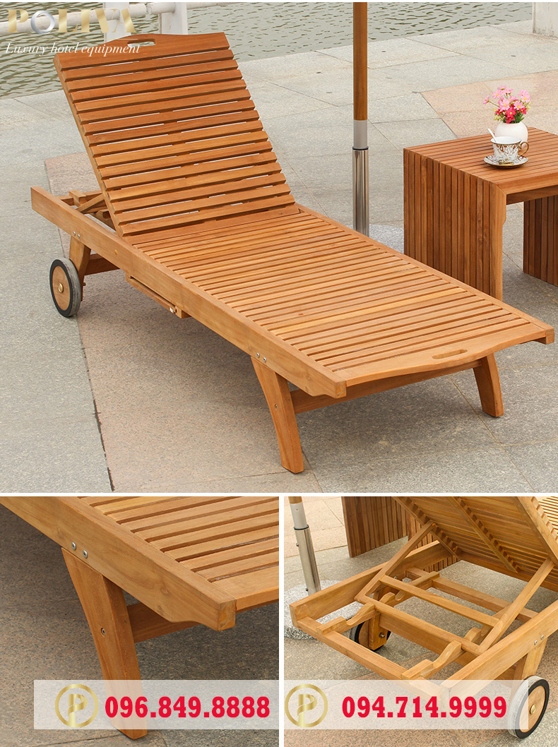 So sánh ghế hồ bơi bằng gỗ và ghế hồ bơi bằng nhựa