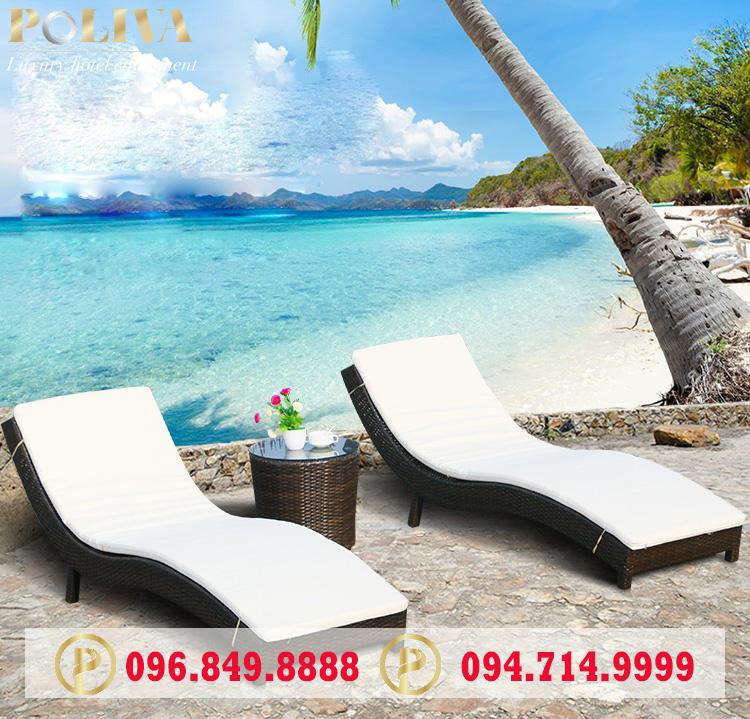 Có nên sử dụng ghế hồ bơi giả mây cho bãi biển hay không?