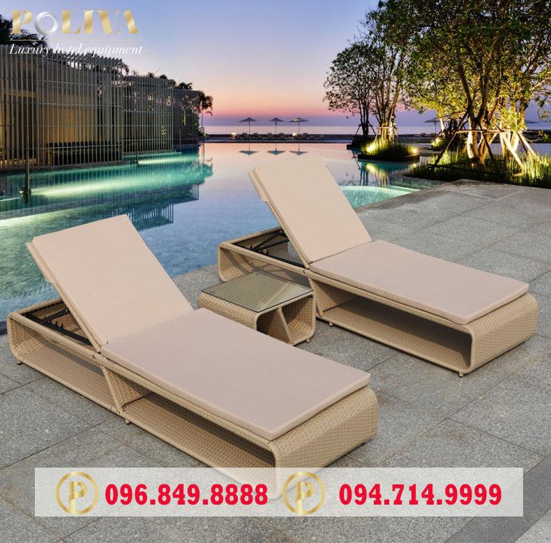 Mẫu ghế hồ bơi phù hợp cho khách sạn, resort?
