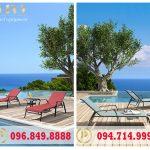 Có nên mua ghế hồ bơi textilene cho khách sạn ven biển