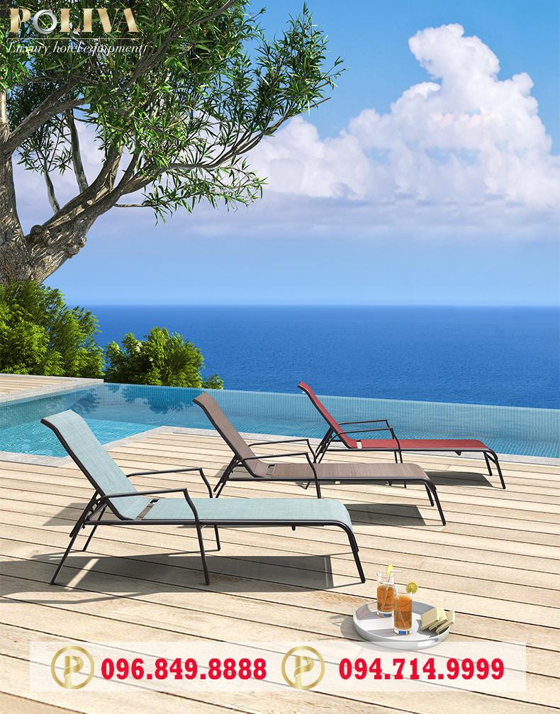 Vì sao nên lựa chọn ghế hồ bơi textilene vải lưới?