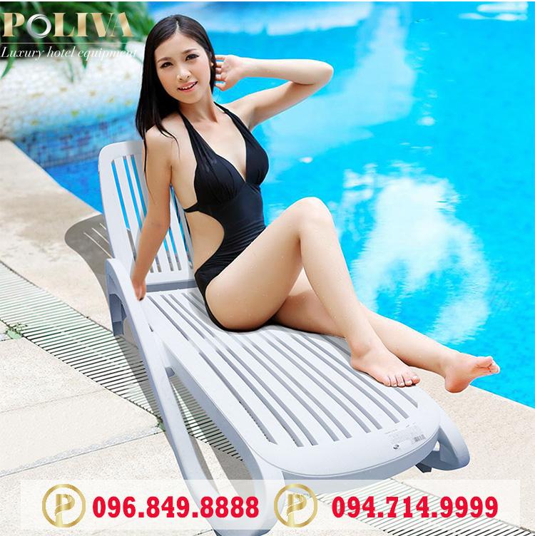 Báo giá ghế bể bơi nhập khẩu thương hiệu Poliva