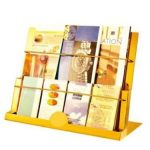 Kệ sách báo inox mạ vàng để bàn