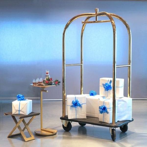Xe trolley đẩy hành lý của Hành Tinh Xanh có độ bền cao.