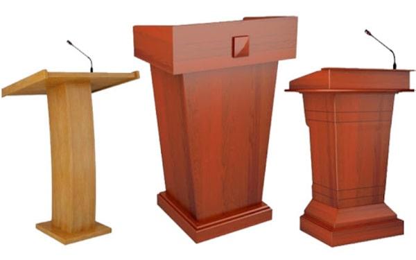 Một số mẫu bục phát biểu bằng gỗ