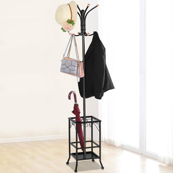 Cây treo quần áo tiện dụng có chỗ để ô