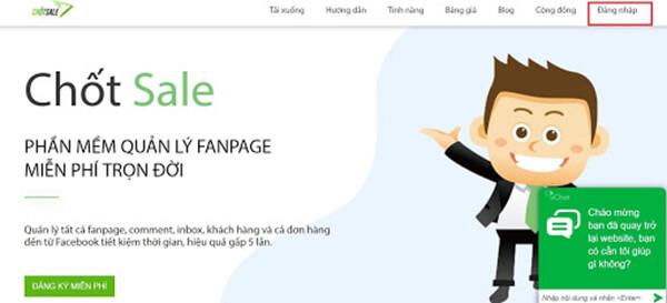 Ứng dụng quản lý tin nhắn Fanpage Facebook Chốt Sale