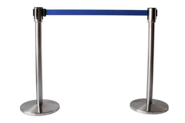 Cột chắn inox dây căng màu xanh giá rẻ