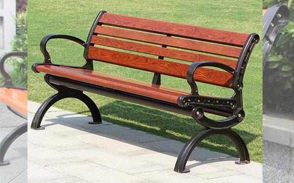 Ghế băng công viên có nhiều màu sắc, kiểu dáng đa dạng