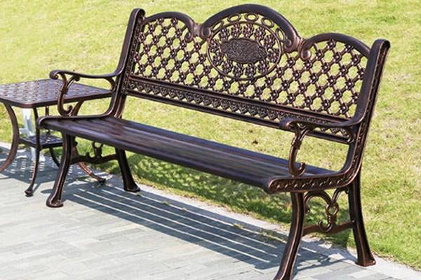 Ghế công viên bằng sắt sang trọng cổ điển
