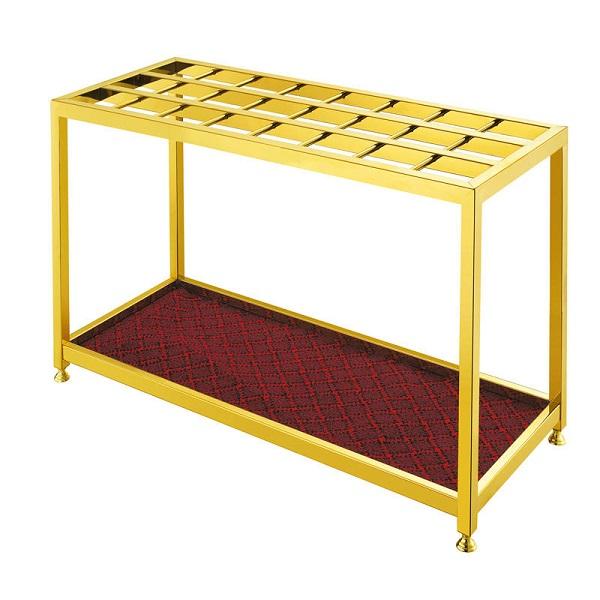 Inox mạ vàng được sử dụng rộng rãi trong sản xuất kệ đựng ô dù