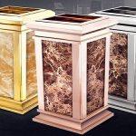 Thùng rác inox đá hoa cương là sự lựa chọn tối ưu nhất cho khách sạn