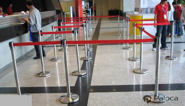 Thanh chắn inox dây căng cho sân bay