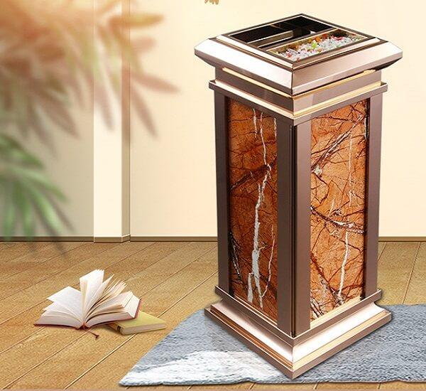 Thùng rác inox đá hoa cương sang trọng