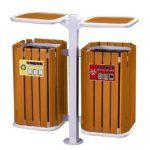 Thùng rác gỗ treo đôi chất lượng phải đảm bảo độ bền bỉ, chịu nhiệt và lực tốt