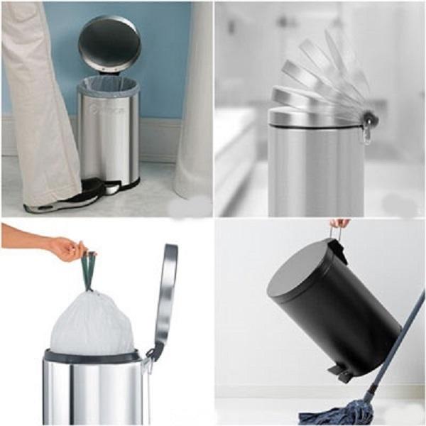 Thùng rác inox rất dễ vệ sinh