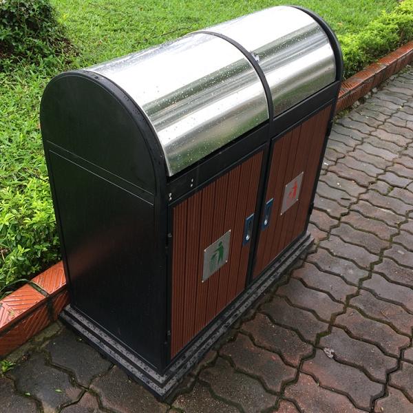 Thùng rác 2 sở hữu thiết kế ưu việt giúp phân loại rác hiệu quả