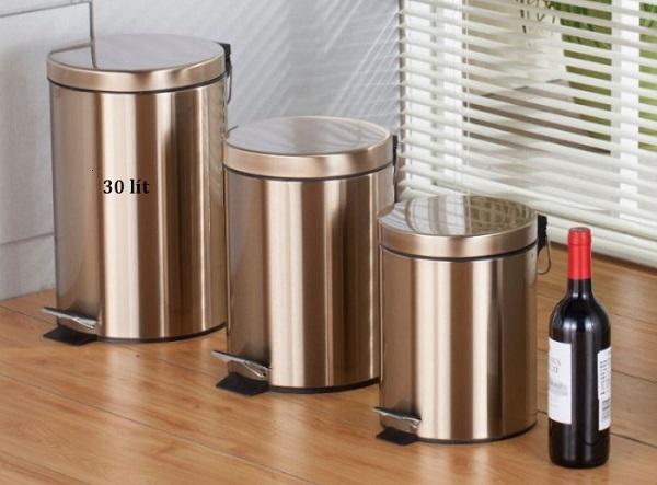 Thùng rác 30 lít thu gom rác giữ gìn vệ sinh nhà hàng luôn sạch đẹp