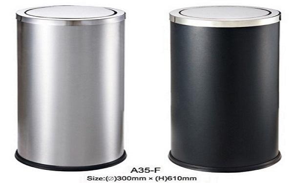 Thùng rác inox a 35-f có tính thẩm mỹ cao ứng dụng được trong nhiều không gian
