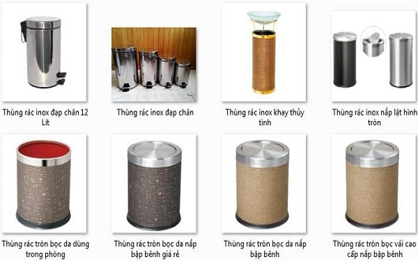 Thùng rác inox cao cấp cho không gian sang trọng hiện đại