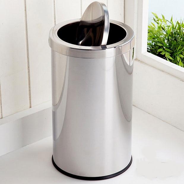 Thùng rác inox nắp lật cho không gian gia đình luôn sạch đẹp