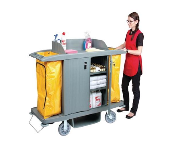 Xe buồng phòng giúp nhân viêndi chuyển và dọn dẹp vệ sinh dễ dàng hơn