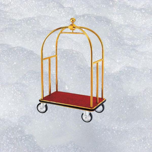 Mẫu xe trolley inõ mạ vàng đếp thép phun sơn
