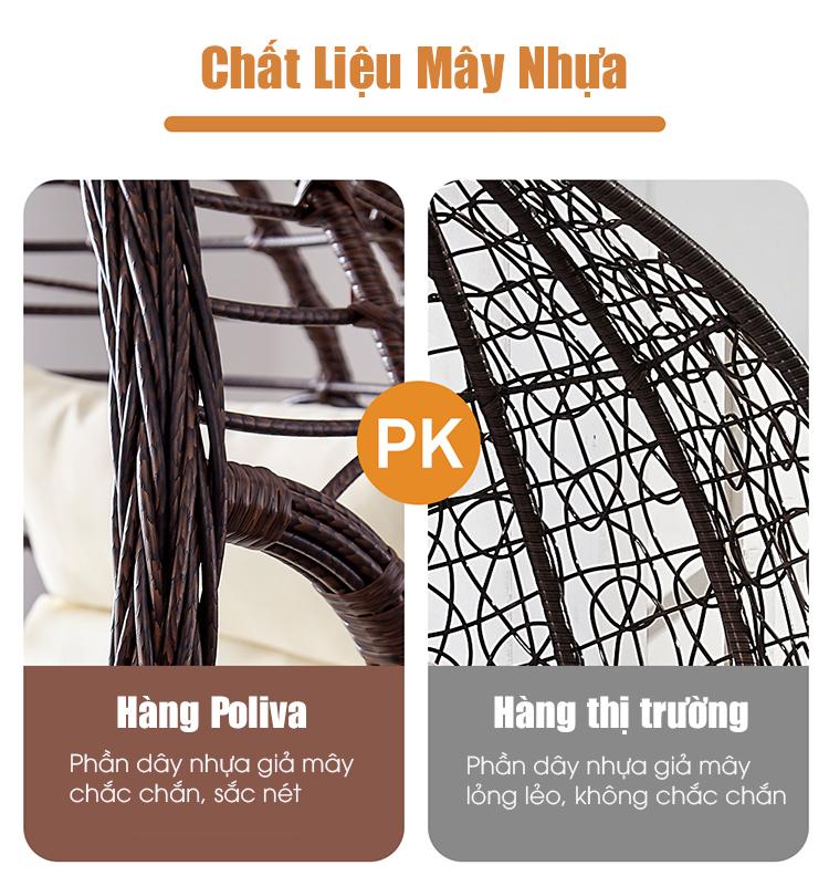 Sự khác biệt của xích đu Poliva so với các loại xích đu khác