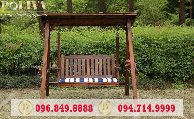 Đặc điểm nổi bật của xích đu bằng gỗ chính hãng Poliva