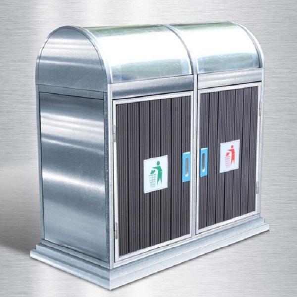 Thiết kế 2 ngăn giúp phân loại rác dễ dàng